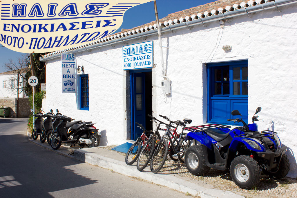 ILIAS RENT A BIKE  MOTO BIKE  ATV RENTALS IN  Nr Analypsis Square,Spetses